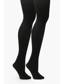 Plus 2 Pack 100 Denier Tight by Boohoo
