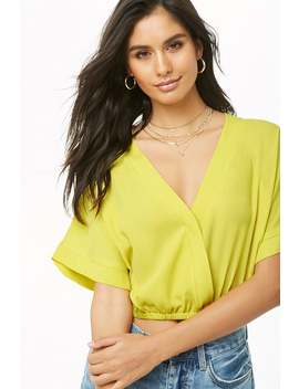 Surplice Dolman Crop Top by Forever 21