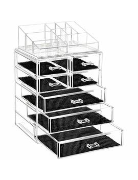 Design Brand Cosmetic Organiser & Makeup Accessories Storage, Large Two Tier Stackable, 7 Drawers, Cosmetics, Jewelry, Perfume by Design Brand