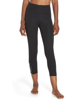High Waist Run Sprint In Crop Leggings by Zella
