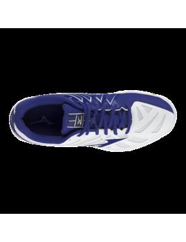 Mizuno Men's Wave Hurricane 3 Indoor Court Shoes   White/Blue by Sport Chek