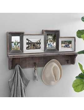 Rustic 4 Opening Collage Frame With Hooks by Kirkland's