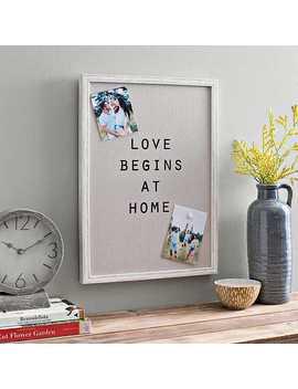 Love Begins Linen Magnet Board by Kirkland's