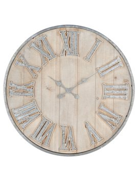 Imax Adelaide Galvanized Wall Clock by Hayneedle