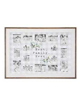 Buffalo Plaid Best Family Ever Collage Frame by Kirkland's