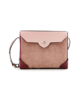 Bold Shoulder Bag In Leather And Suede by Manu Atelier