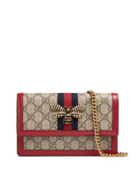 Queen Margaret Gg Supreme Wallet On Chain by Gucci