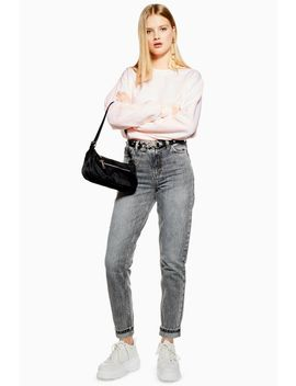 Grey Mom Jeans by Topshop