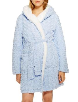 Fluffy Faux Fur Hooded Robe by Topshop