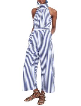 Stripe Halter Wide Leg Jumpsuit by J. Crew