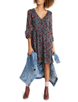 Moonblossom Ruffle Sleeve Dress by Madewell
