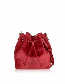 Lancaster Paris Women's 51909 Rouge Red Velvet Shoulder Bag by Lancaster Paris