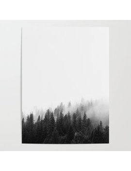 Misty Forest Poster by