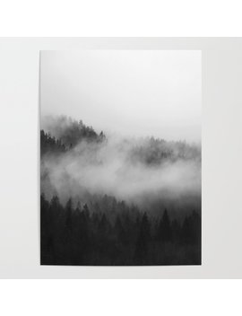 Foggy Forest Poster by