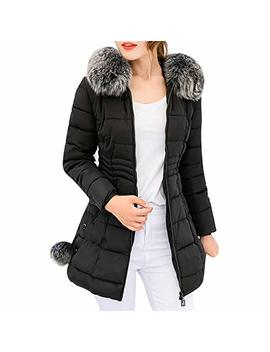 Londony ♥‿♥ Winter Coats For Women,Women's Down Coat With Fur Hood Down Parka Puffer Jacket by Londony