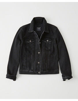 Black Denim Jacket by Abercrombie & Fitch