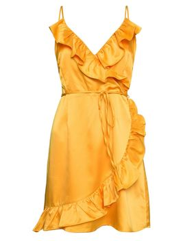 **Satin Wrap Dress By Glamorous by Topshop
