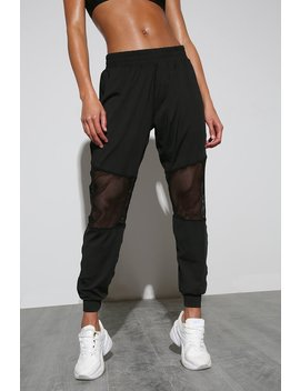 Black Fishnet Insert Active Joggers by I Saw It First