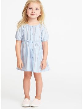 Striped Shirt Dress For Toddler Girls by Old Navy