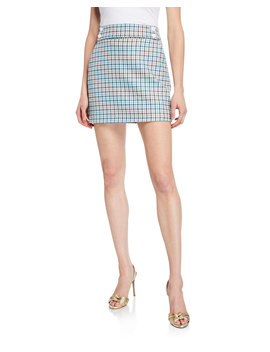 Arezzo Houndstooth Check Mini Skirt by Veronica Beard