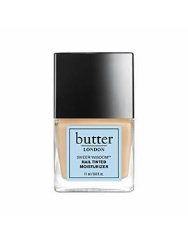 Butter London Sheer Wisdom Nail Tinted Moisturizer, Light, 0.4 Fl. Oz. by Butter London