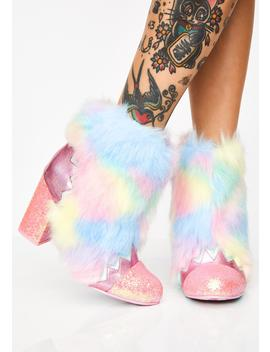 Zodiac Fur Boots by Irregular Choice