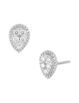 Mika Diamond Pear Shape Stud Earrings by Bony Levy