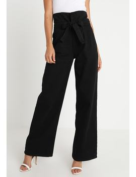 High Rise Full Length Paper Bag   Jeans Relaxed Fit by Missguided