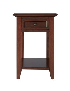 Espresso Single Drawer End Table With Power Strip by Pier1 Imports