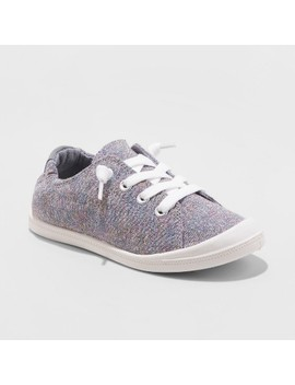 Girls' Mad Love Shana Canvas Metallic Sneakers by Mad Love