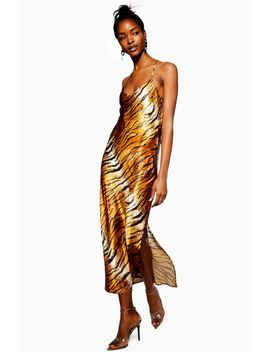 Tall Tiger Satin Slip Dress by Topshop