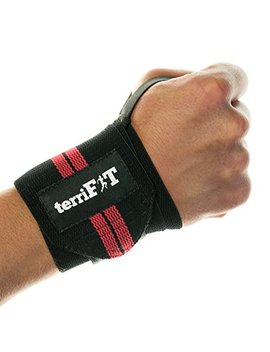 Weight Lifting Wrist Wraps By Terri Fit   46 Cm Medium Duty With Thumb Loop   Cross Fit, Weightlifting, Workout Protection   Pair Of Two Wraps   Men And Women by Terri Fit