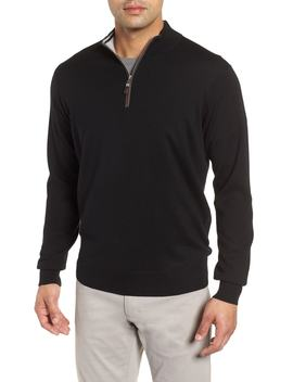 Crown Soft Wool Blend Quarter Zip Sweater by Peter Millar