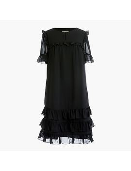 Point Sur Ruffle Dress In Crinkle Chiffon by J.Crew