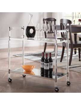 Silver Orchid Aldor Silver Acrylic Bar Cart by Silver Orchid