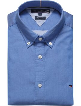 Long Sleeve Dobby Shirt by Tommy Hilfiger
