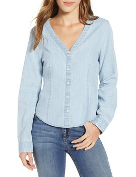 V Neck Chambray Shirt by Bp.