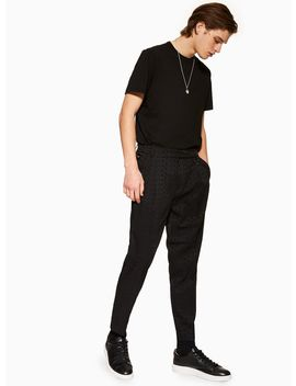 Black Text Print Trousers by Topman