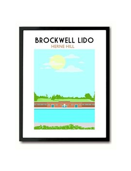 Brockwell Lido, Herne Hill South London Art Print by Etsy