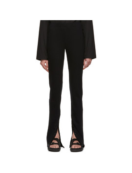 Black Jersey Leggings by Lemaire