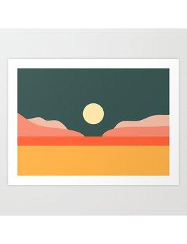 Geometric Landscape 14 Art Print by