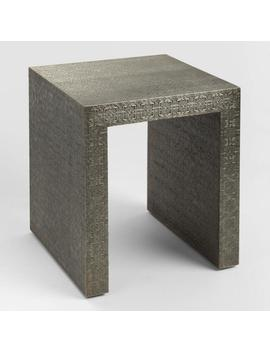 Embossed Metal Sheena Accent Table by World Market