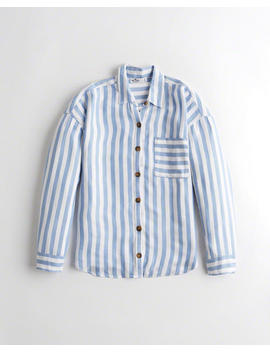 Oversized Button Down Shirt by Hollister