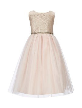 Little Girls 4 6 Imperial Brocade/Crystal Tulle A Line Dress by Sweet Kids