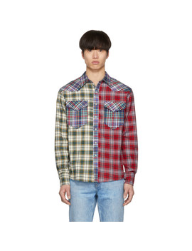 Red Patchwork Billy Shirt by Isabel Marant
