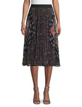Floral Pleated Skirt by Rebecca Taylor