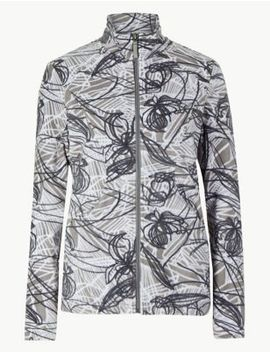 Floral Print Fleece Jacket by Marks & Spencer