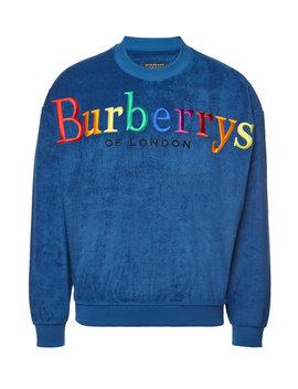 Besticktes Sweatshirt Aus Baumwoll Frottee by Burberry