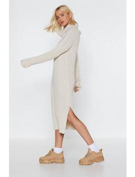 Roll Knitted Midi Dress by Nasty Gal