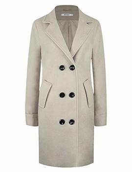 Women's Winter Classic Double Breasted Laple Long Wool Trench Coat Overcoat Ws01 by Aptro